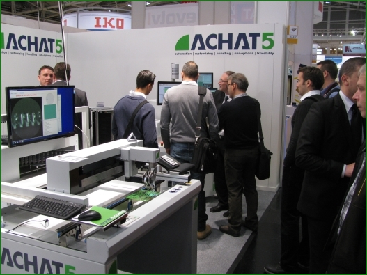 Achat5 Boardhandling VinCam inspection of AOI results